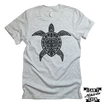 Turtle T-shirt. Tortoise Tattoo Shirt. Turtle Tee. Gift for Her. Gift for Him.