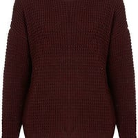 Knitted Textured Grunge Jumper - Knitwear  - Clothing