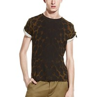 Versace - Leopard Print Fitted T-Shirt