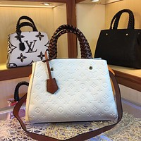 LV Louis Vuitton WOMEN'S MONOGRAM LEATHER Montaigne BB HANDBAG SHOULDER BAG