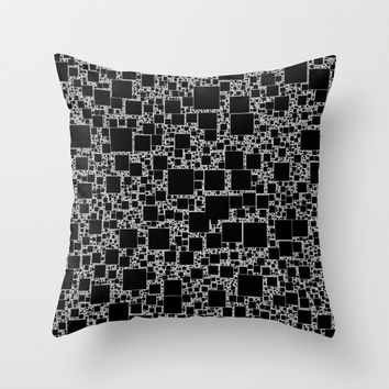 Post It Black Throw Pillow by Alice Gosling
