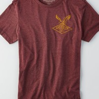 AEO Men's Signature Graphic T-shirt (Burgundy)