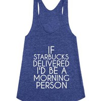 Starbucks-Female Tri Indigo Tank