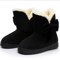 DCCK8X2 Ugg boots during the winter to keep warm boots and thicken the new bow boots Black