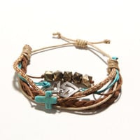 With Love From CA Cross And Chevron Bracelet at PacSun.com