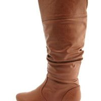 Mini Heel Mid-Calf Slouch Boot: Charlotte Russe