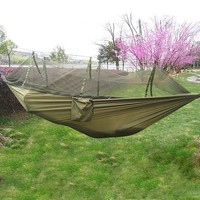 New Handy Portable Hammock Single-person Folded Into The Pouch Mosquito Net Hammock Hanging Bed For Travel Kits Camping