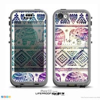 The Bright Colorful Elephant Pattern Skin for the iPhone LifeProof Case