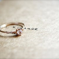 Promise Valentine Ring Dreamy Romantic Gold by sparklethots