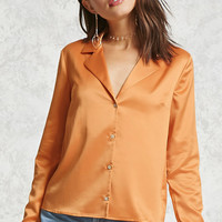 Satin Button-Down Shirt