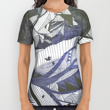 wind geometry All Over Print Shirt by Bunny Noir