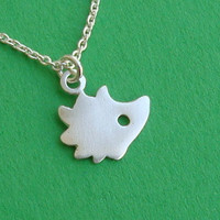 Tiny Hedgehog Necklace woodland in sterling silver by zoozjewelry