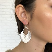 Silver Door Cut Out Earrings