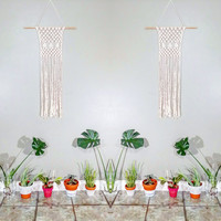 Modern Macrame Wall Hanging- Fringe Wall Accent- Bohemian Decor- Dorm Decor~ Contemporary Room Decor- White Wall Accent- BohoChic Home Decor