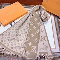 Hot33 Fashion Men Women Letter Print Cashmere Scarf Scarves
