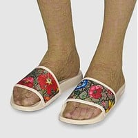 GUCCI GG flower slippers