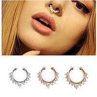 Alloy Hoop Septum Nose Ring