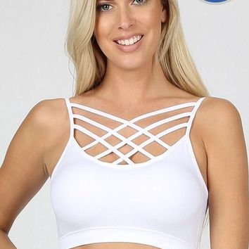 White Strappy Bralette