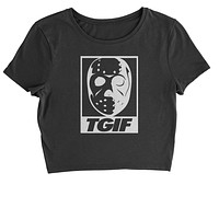 TGIF Jason Hockey Mask  Cropped T-Shirt