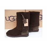 UGG fashion new wool boots ankle boots Korean fashion knit thick wool snow boots