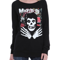 Misfits Fiend Floral Girls Pullover Top