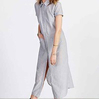 BDG Voile Maxi Shirt Dress-