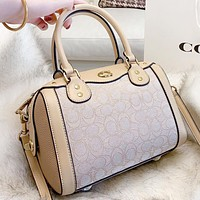 Samplefine2 COACH Fashion New Pattern Leather Shopping Leisure Handbag Shoulder Bag Crossbody Bag