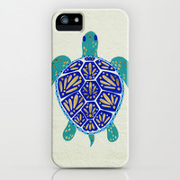 Sea Turtle iPhone & iPod Case by Cat Coquillette