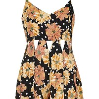 TALL Floral Cut-Out Playsuit - Topshop