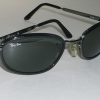 RAY-BAN W3088 SLEEK BLACK/GUNMETAL SIDESTREET G15 UV SUNGLASSES w/CASE