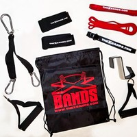 10 piece whole body work out kit | The X Bands top quality resistance bands and accessories