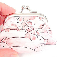 Pigs Among Us Tiny Twistlock Coin Purse by wildmustangs on Etsy