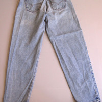 Vtg Levi's 560 Jeans Loose Fit Tapered Blue Denim 32 x 34 USA 29 x 33