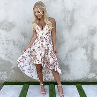 Life Story Floral Print Hi Low Dress