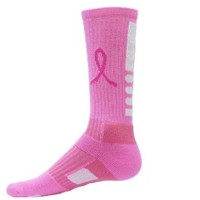 Red Lion Ribbon Legend Breast Cancer Socks ( Pale Pink / Neon Pink - Small )