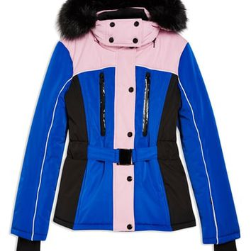 Topshop SNO Colorblock Fitted Jacket   Nordstrom