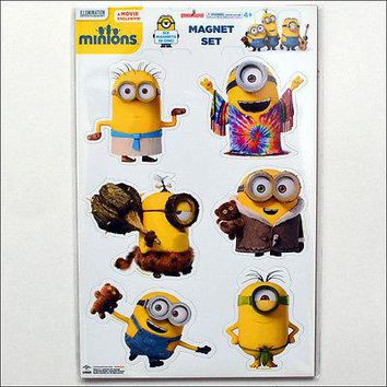 Despicable Me Minions Through Time Cro Hippie Fridge Magnet Set Collection of 6
