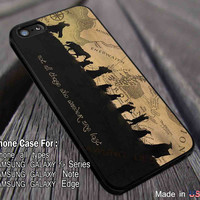 Fellowship Not All Who Wander Are Lost The Hobbit iPhone 6s 6 6s+ 6plus Cases Samsung Galaxy s5 s6 Edge+ NOTE 5 4 3 #movie #TheHobbit ii
