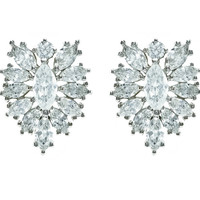 Imani Marquise Cluster CZ Stud Earrings | Cubic Zirconia | Silver