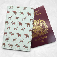 Personalised Custom Name Passport Cover Passport Holder with FREE Name Printing (BBS041)