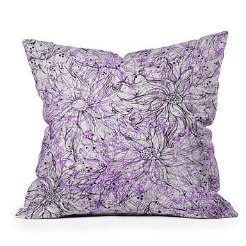 Lisa Argyropoulos Angelica Purple Throw Pillow