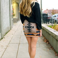 Noble Native Skirt - Taupe