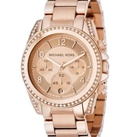 Michael Kors Watch, Women's Chronograph Blair Rose Gold Tone Stainless Steel Bracelet 41mm MK5263 - All Watches - Jewelry & Watches - Macy's