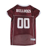 Mississippi State Bulldogs Dog Jersey Medium