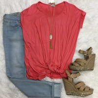 Knotted Top: Coral