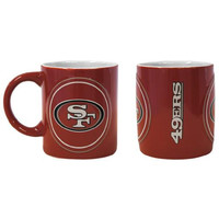 San Francisco 49ers NFL Coffee Mug - 14oz Sculpted Warm Up (Single Mug)
