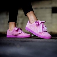 PUMA BOW Trending Fashion Casual Sports Shoes knot I Tagre™
