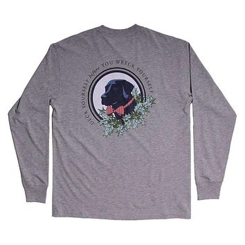 Deck Yourself Long Sleeve Tee in Grey by Southern Proper