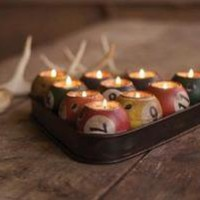 pool ball candle holder