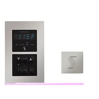 ThermaSol Signature Steam Shower Kit - Includes Control Panel and Square Steam H